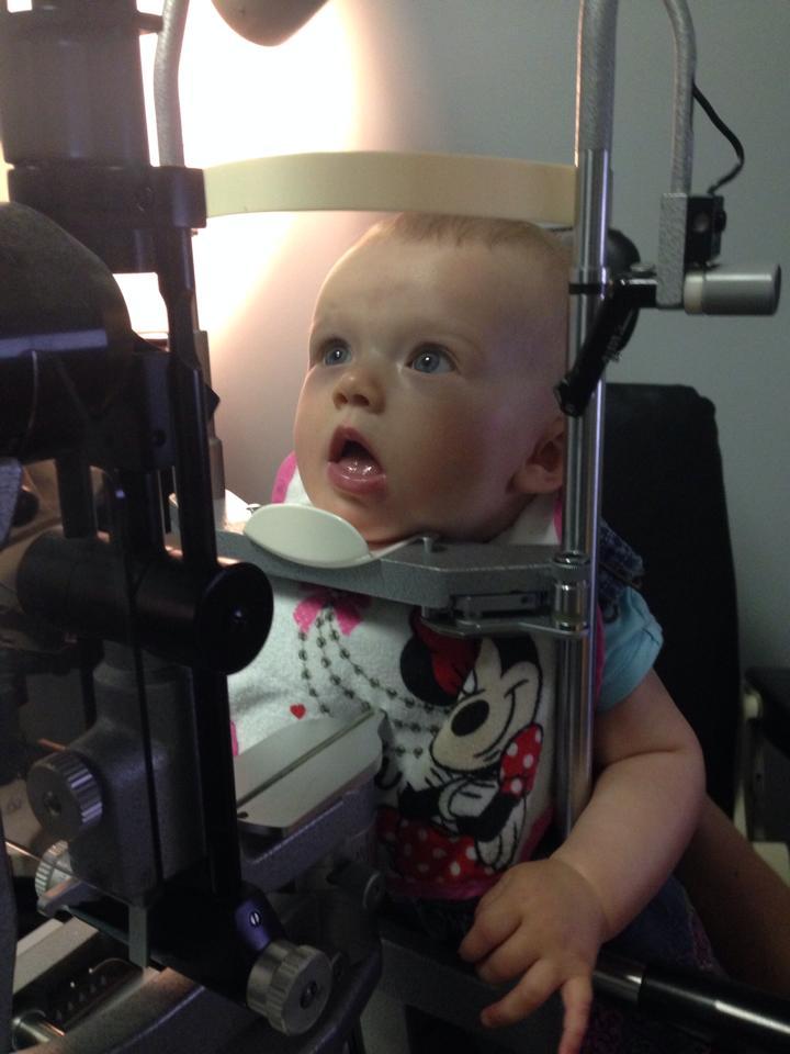 Baby eye exam