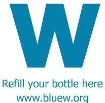 """Refill your water bottle in Uptown Waterloo with """"Blue W"""""""